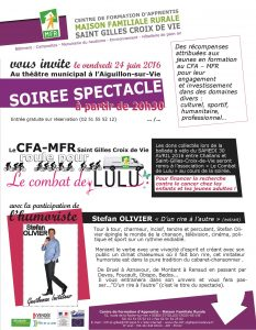 invitation mail soirée spectacle CDL